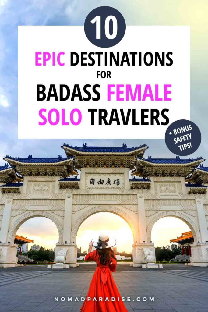10+ Epic Destinations for Solo Female Travellers! Check out this list of best solo female travel destinations to add to your bucket list for 2020 and beyond. #solofemale #solotravel #tripinspiration #amazingdestinations