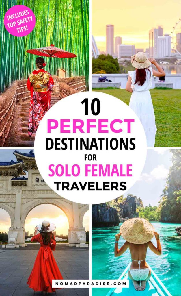 Are you planning your next trip as a solo female traveler? Here are 10 best solo female travel destinations for 2020, ideal for your first time traveling alone. You can also find a list of travel safety tips for women to make your solo travel adventure an INCREDIBLE one! #solofemale #solotravel #tripinspiration #amazingdestinations #tripinspiration #travel