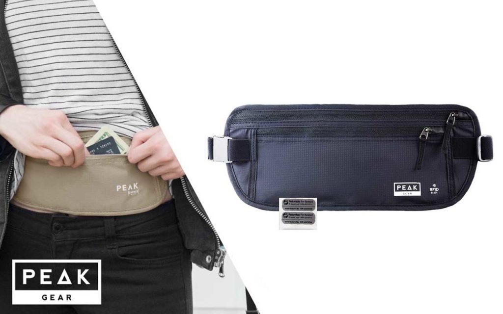 Peak Gear Travel Money Belt with RFID Block