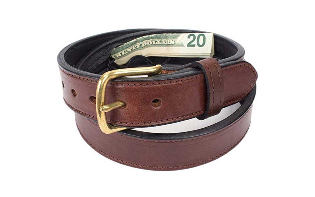Yoder Leather Hidden Money Travel Leather Belt