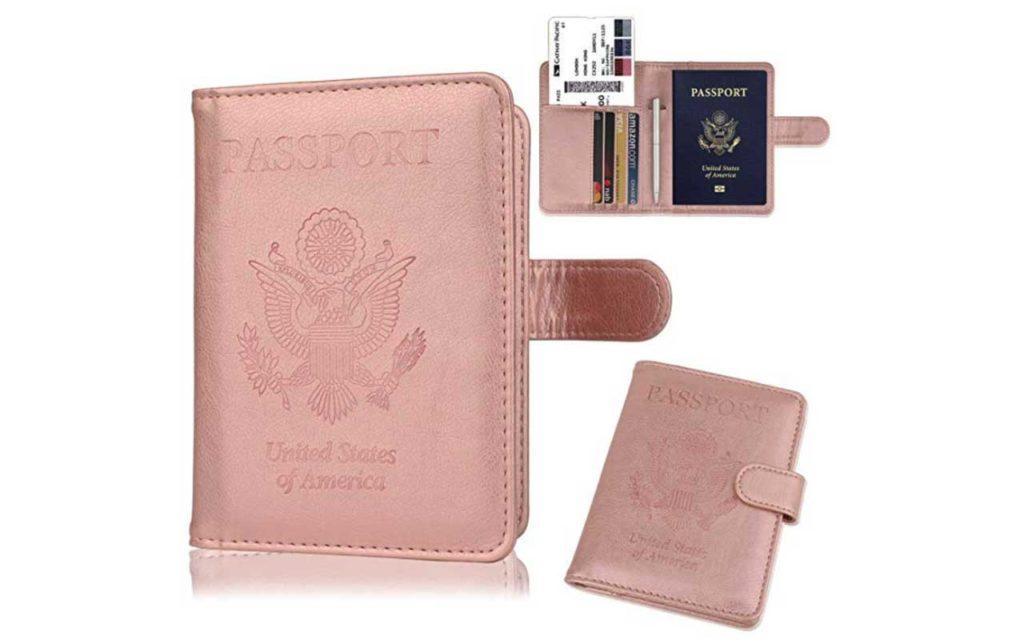 1 - GDTK Leather Passport Holder Travel Wallet with RFID Block