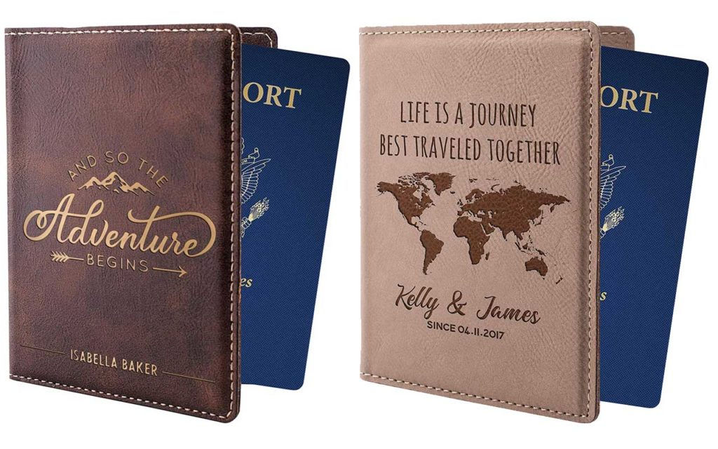 5 - United Craft Supplies Personalised Leather Passport Holder with Name and Quote
