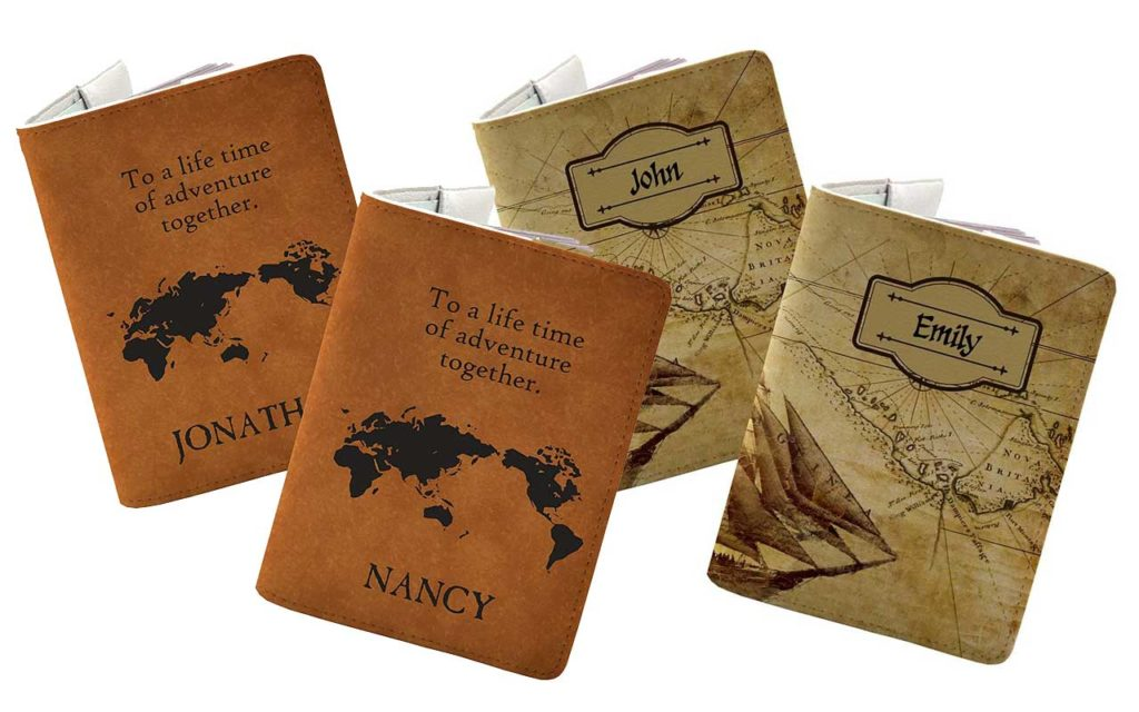 7 - Handmade Curious Personalised Couple Passport Holder Set