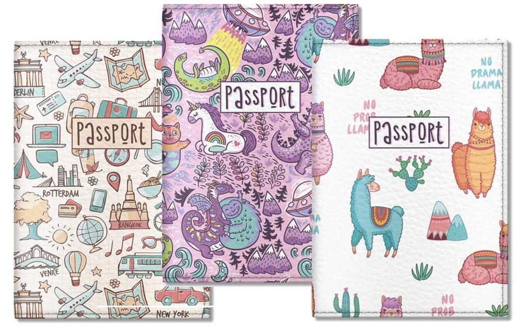 Quttie Kids Vegan Eco Leather Passport Cover Holder