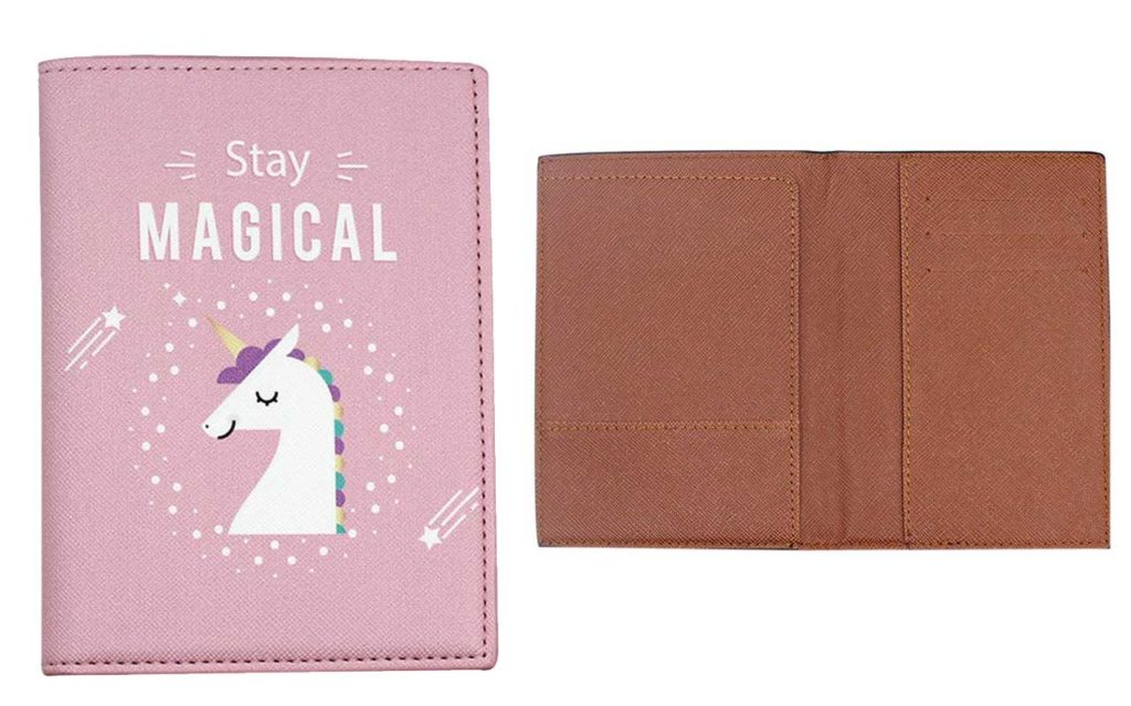 Kingseven Cute Leather Passport Holder