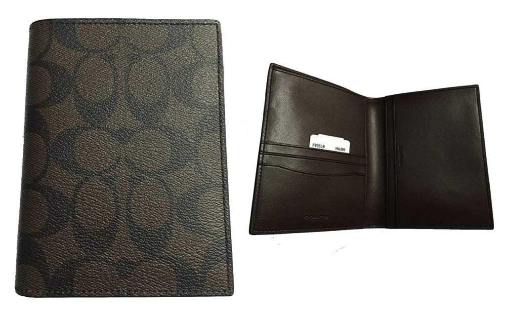 Coach Signature PVC Passport Case