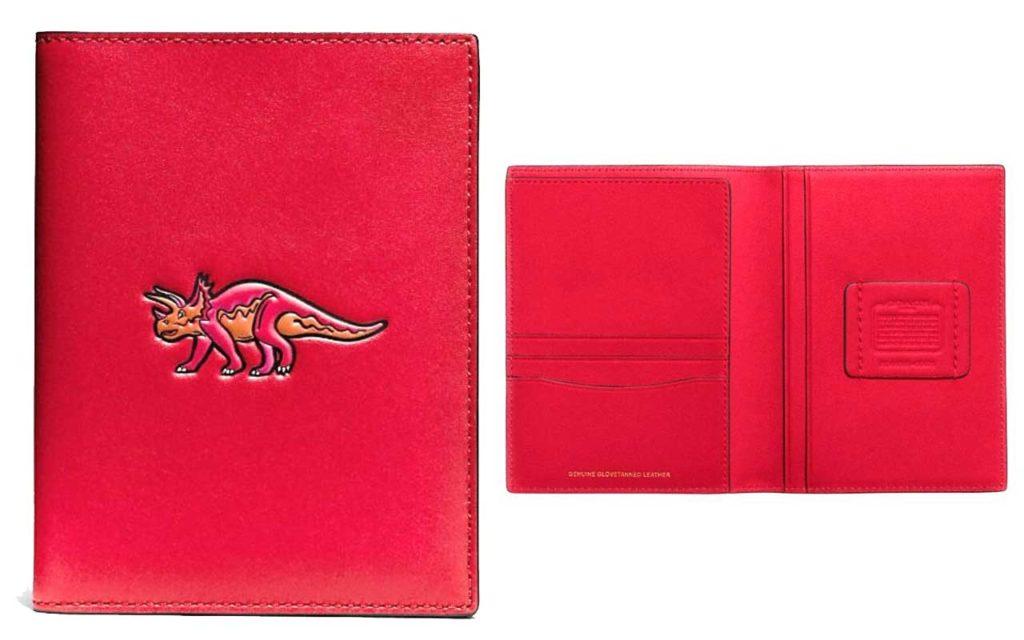 Coach Dinosaur Beast Passport Wallet Holder