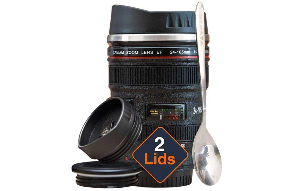Strata Cups Camera Lens Coffee Mug