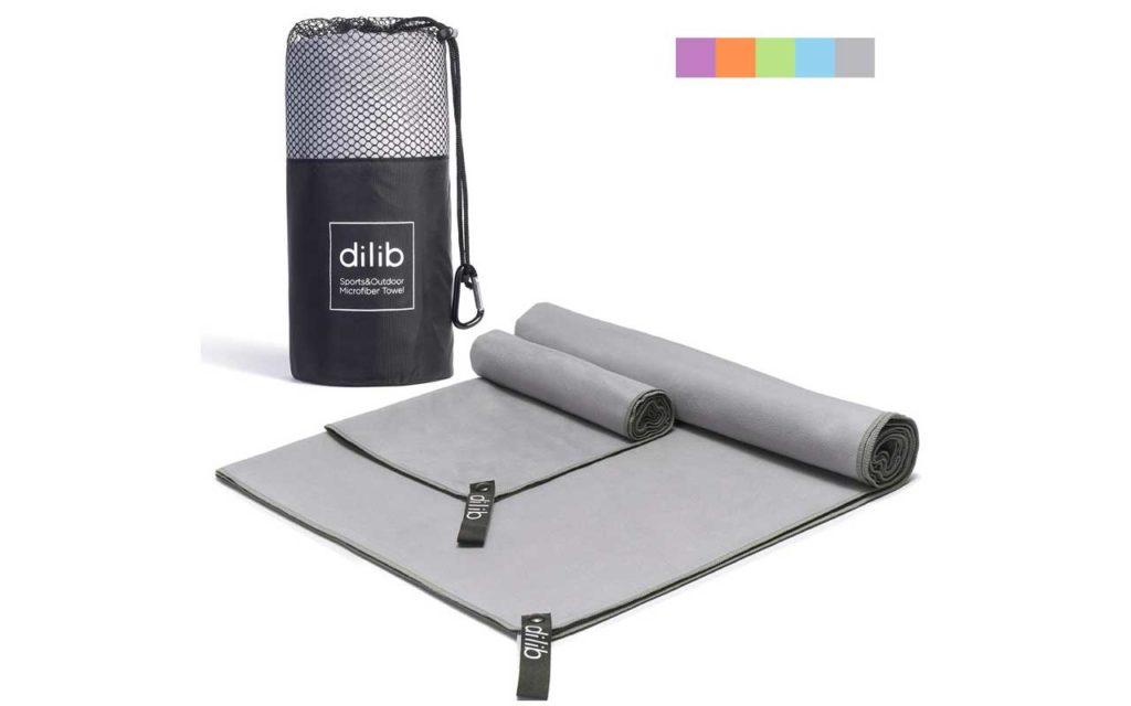 Dilib Two-Pack Microfiber Towel Set