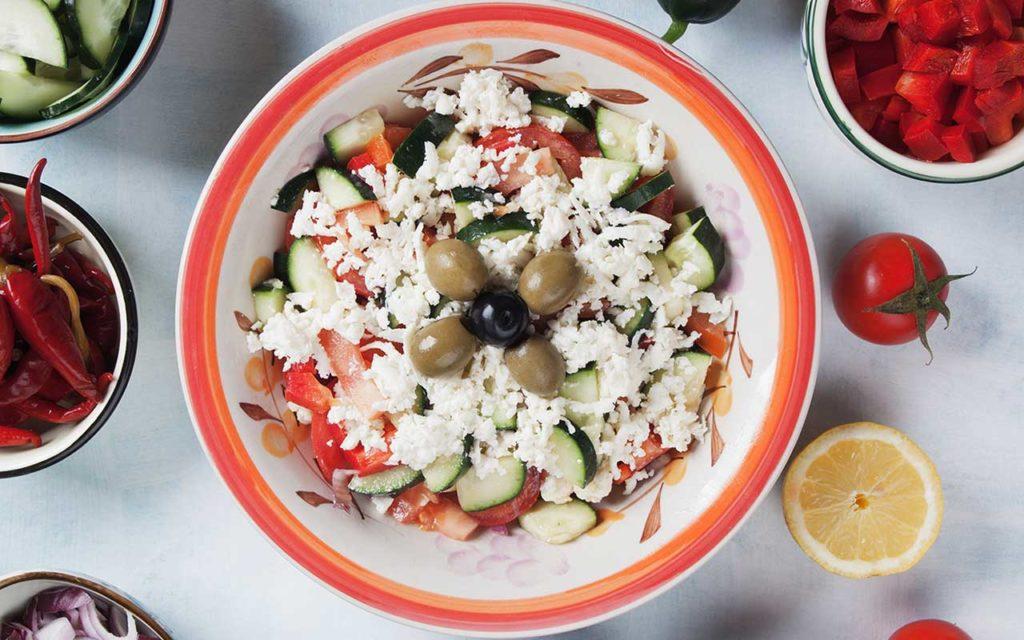 Shopska Salad (Шопска салата) -Bulgarian Food