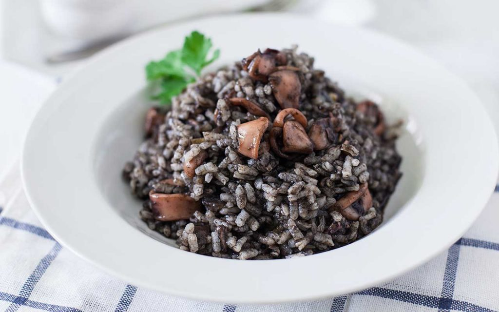 Black Risotto - Croatian Food