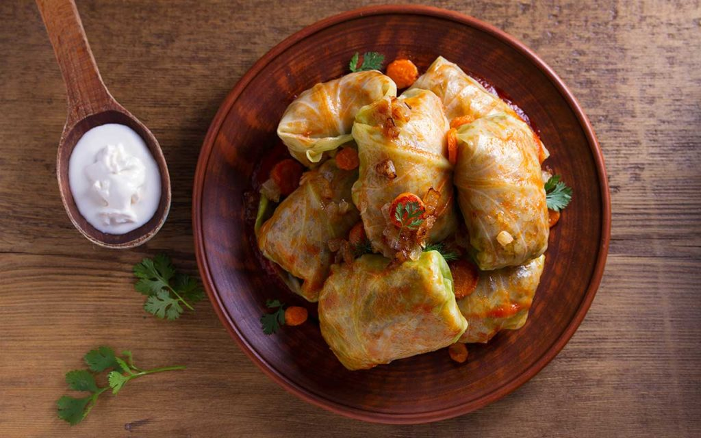 Sarma - Stuffed Cabbage Rolls macedonian food
