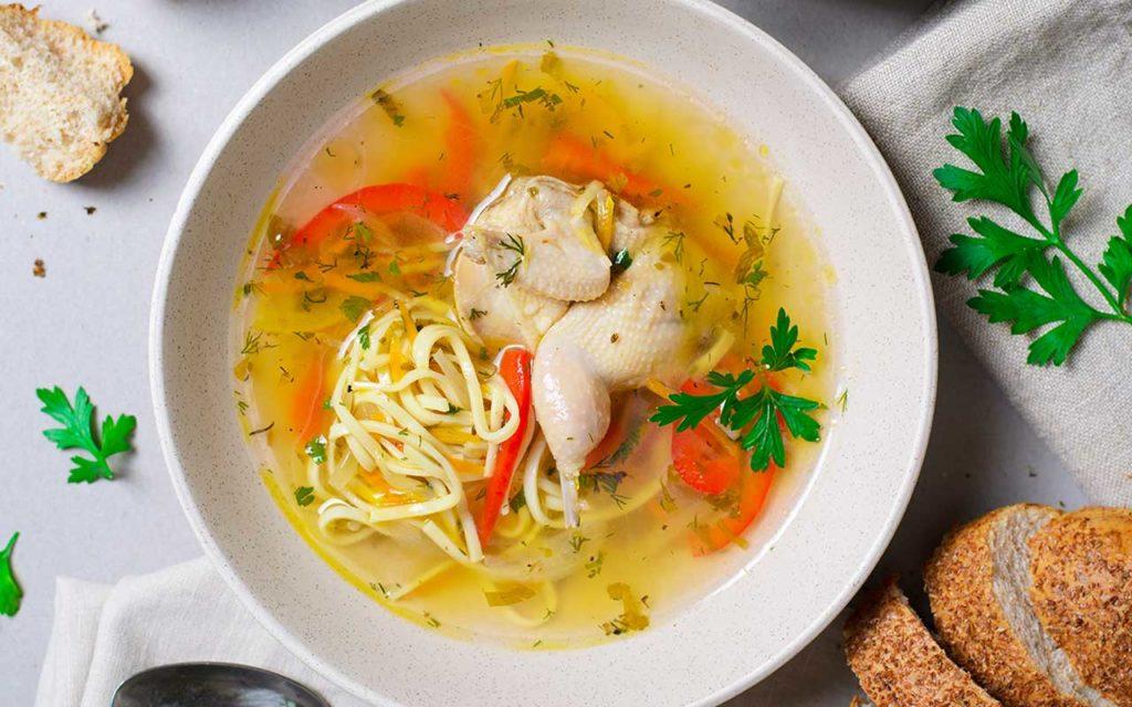 Moldovan Food - Zeama | Moldovan Chicken Noodle Soup