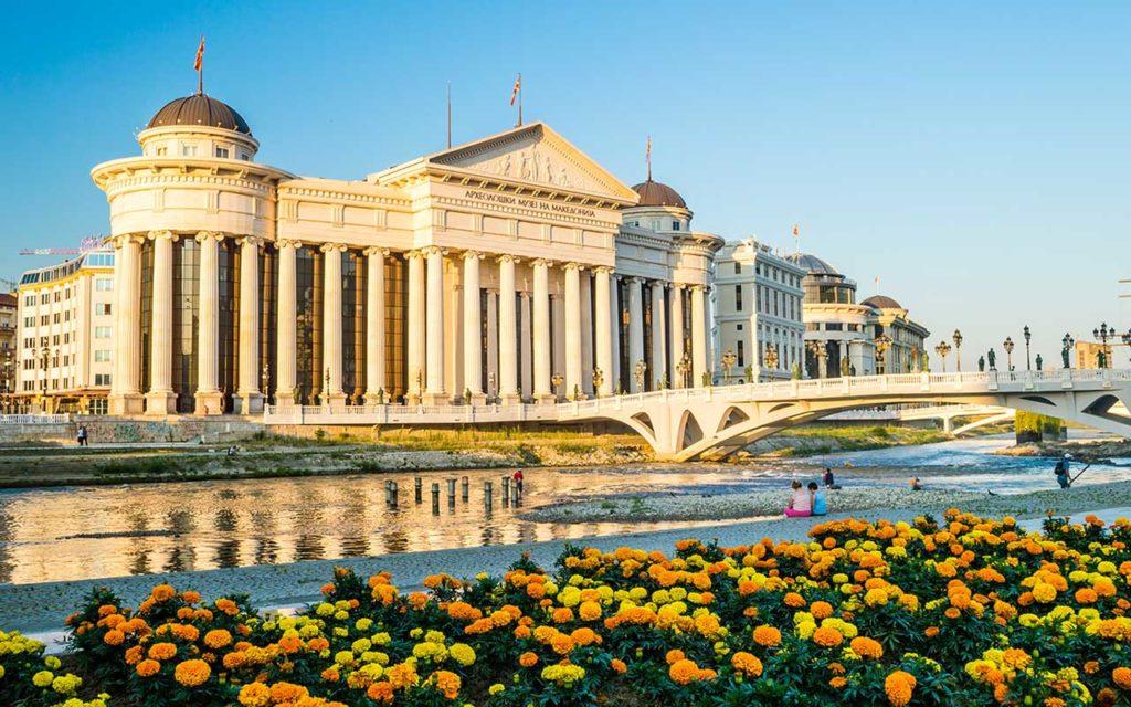 Walk Across the Art Bridge - things to do in Skopje