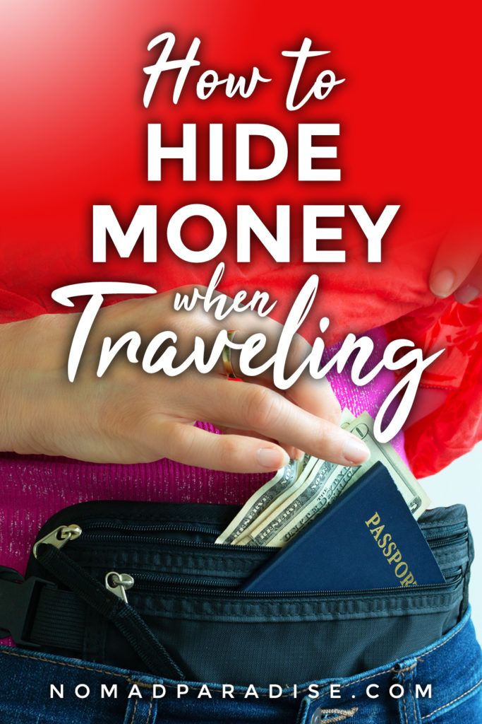 how to hide money when traveling