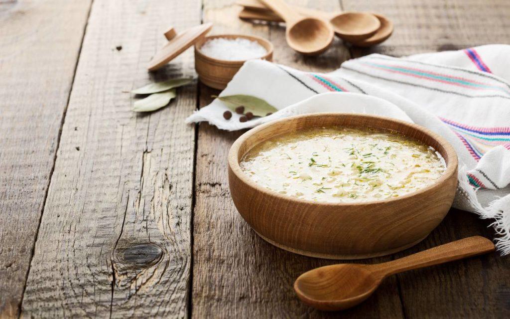 Ukrainian traditional food sauerkraut soup kapusniak