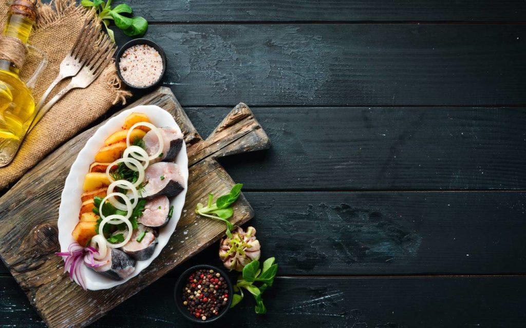 Ukrainian salted herring