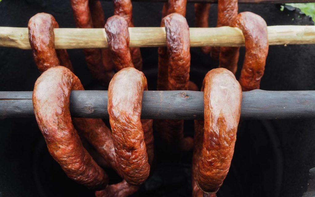 Ukrainian homemade sausages