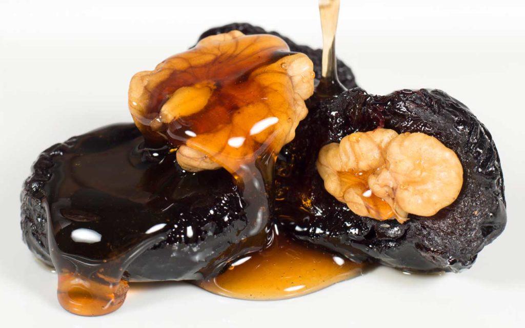 ukrainian food - walnut stuffed prunes
