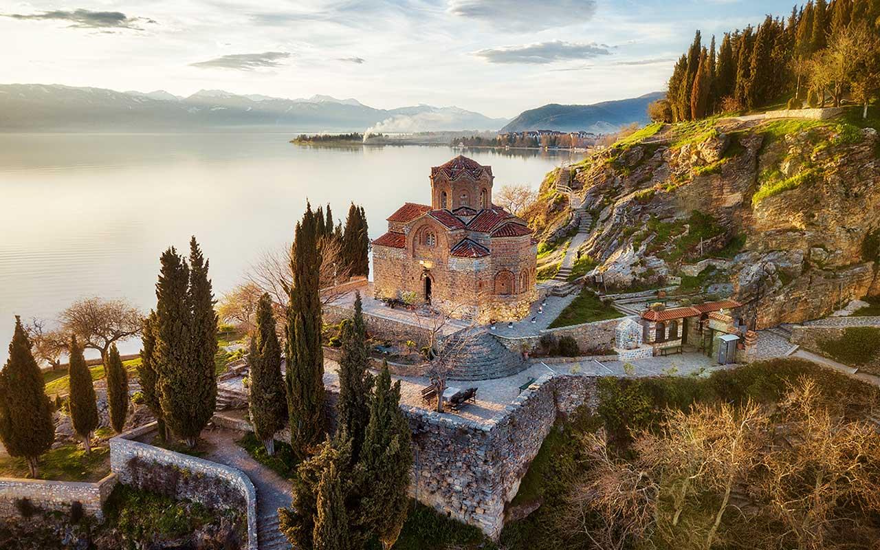 St John at Kaneo church in Ohrid, North Macedonia