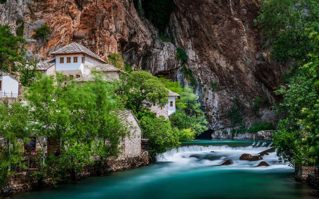 Blagaj and waterfall on Buna spring