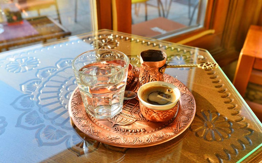 Traditional coffee served in Sarajevo old town