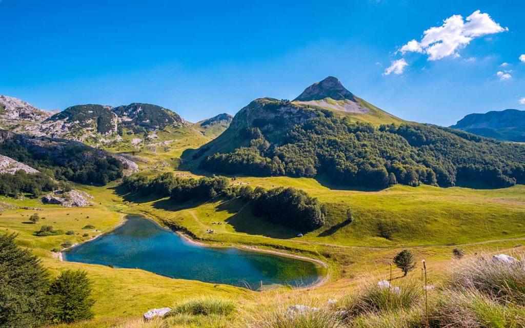 Orlovačko lake at Zelengora, National park Sutjeska