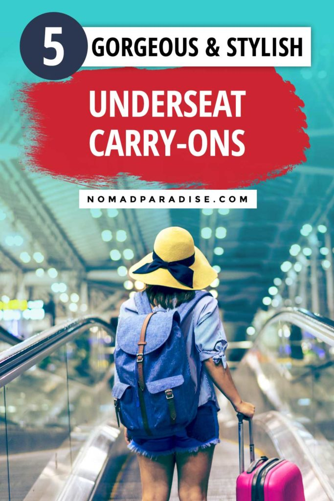 Wheeled carry-on underseat bags a great travel hack for bringing your travel essentials on the plane. Read on for a list of the best underseater luggage bags perfect for holding your overnight must-haves or in-flight travel essentials! #carryon #luggage #suitcase #travel #travelpro