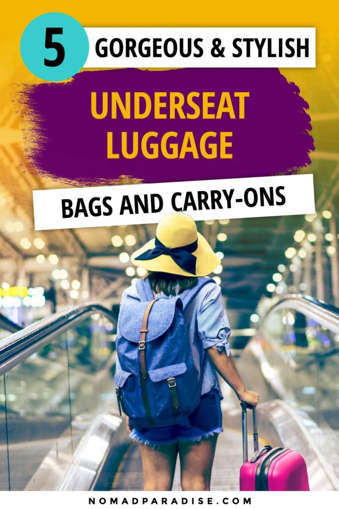 5 underseat carry-on luggage options that are perfect for holding your overnight must-haves or in-flight travel essentials. Stay out of the overhead bins with these underseat carry-on luggage. #carryon #luggage #suitcase #travel #travelpro