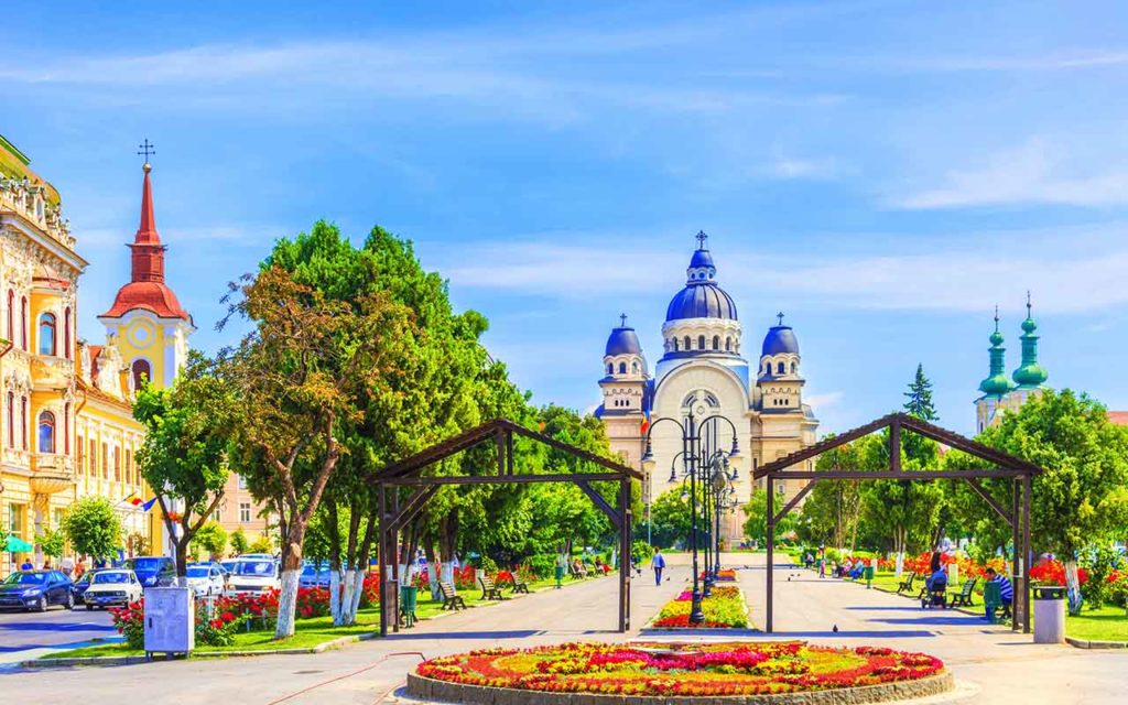 Center of Targu Mures, Romania.