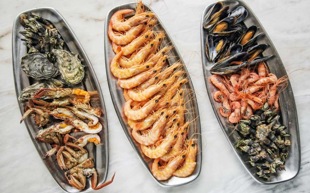 Portuguese Food: Mixed Fresh Seafood