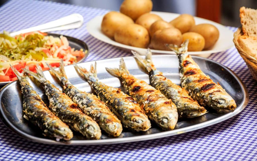 Portuguese Food: Grilled Sardines