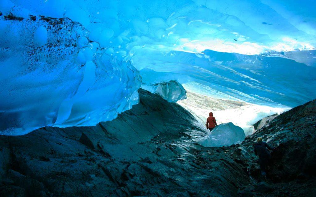 Ice Cave, Mendenhall Glacier, Juneau, Alaska, USA