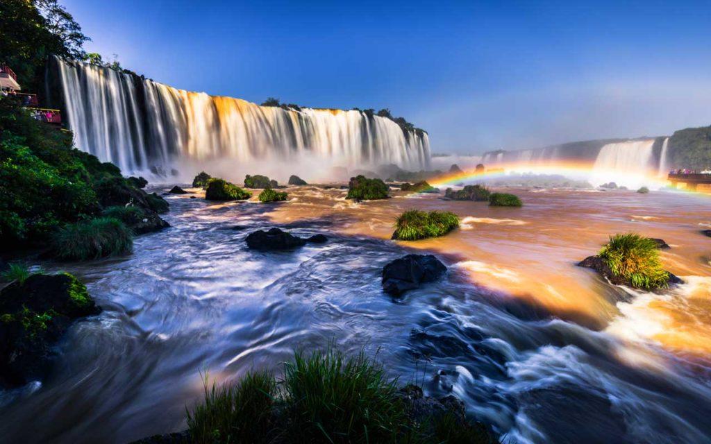 Iguazu Waterfalls in Foz Do Iguazu, Brazil