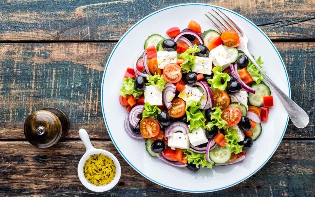Mediterranean food: greek salad