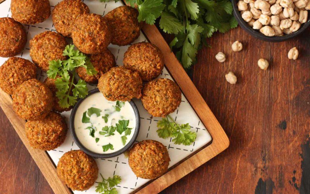 Mediterranean food: falafel