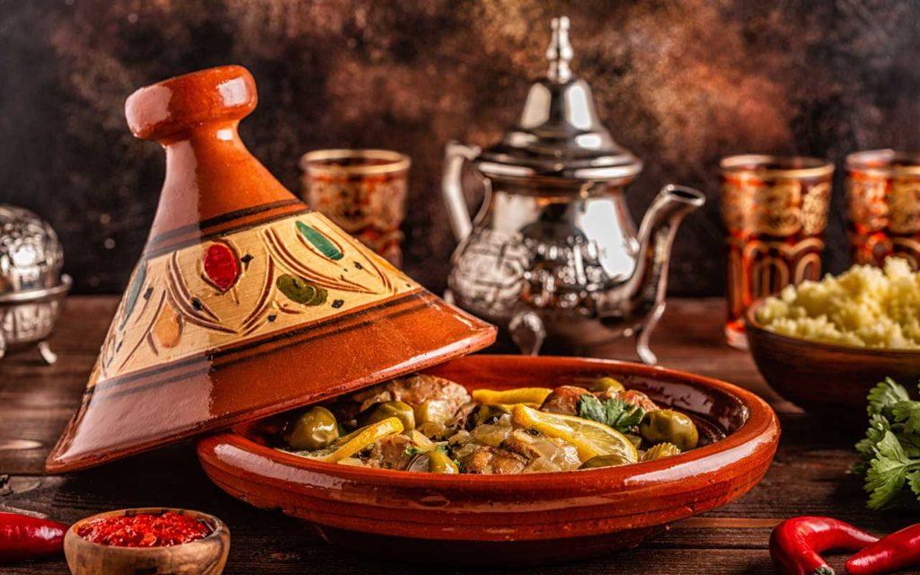 Mediterranean food: moroccan tagine