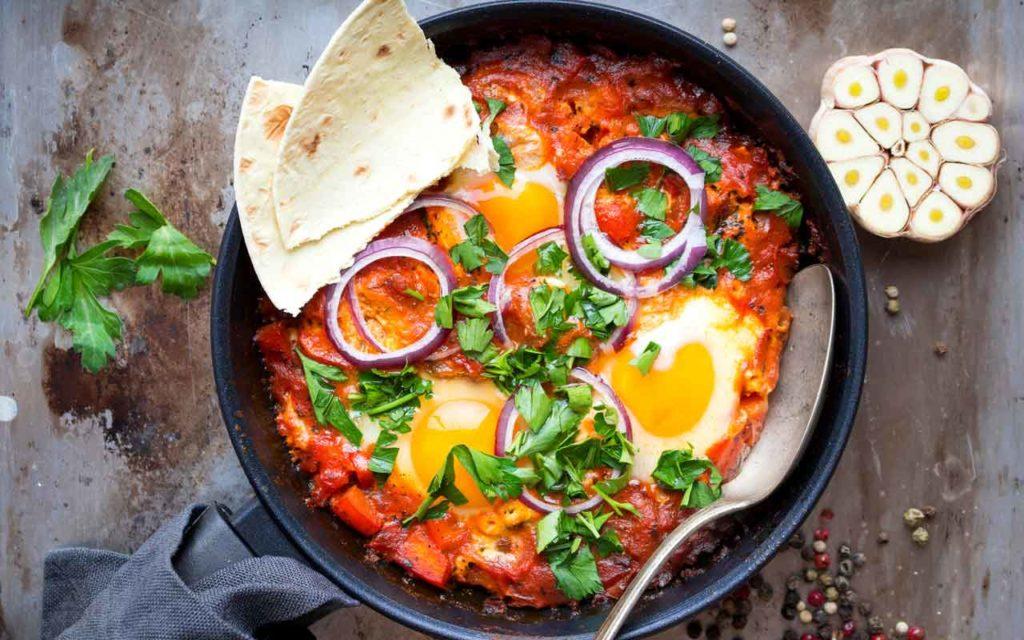 Mediterranean food: shakshuka