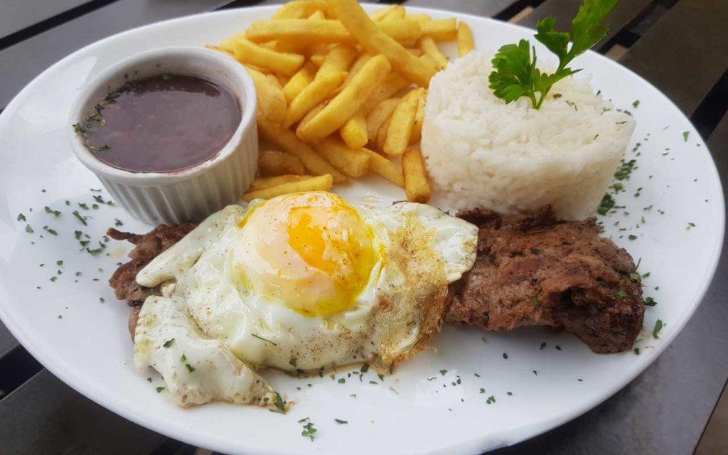 Portuguese Food: Bife com Ovo a Cavalo or Steak & Eggs