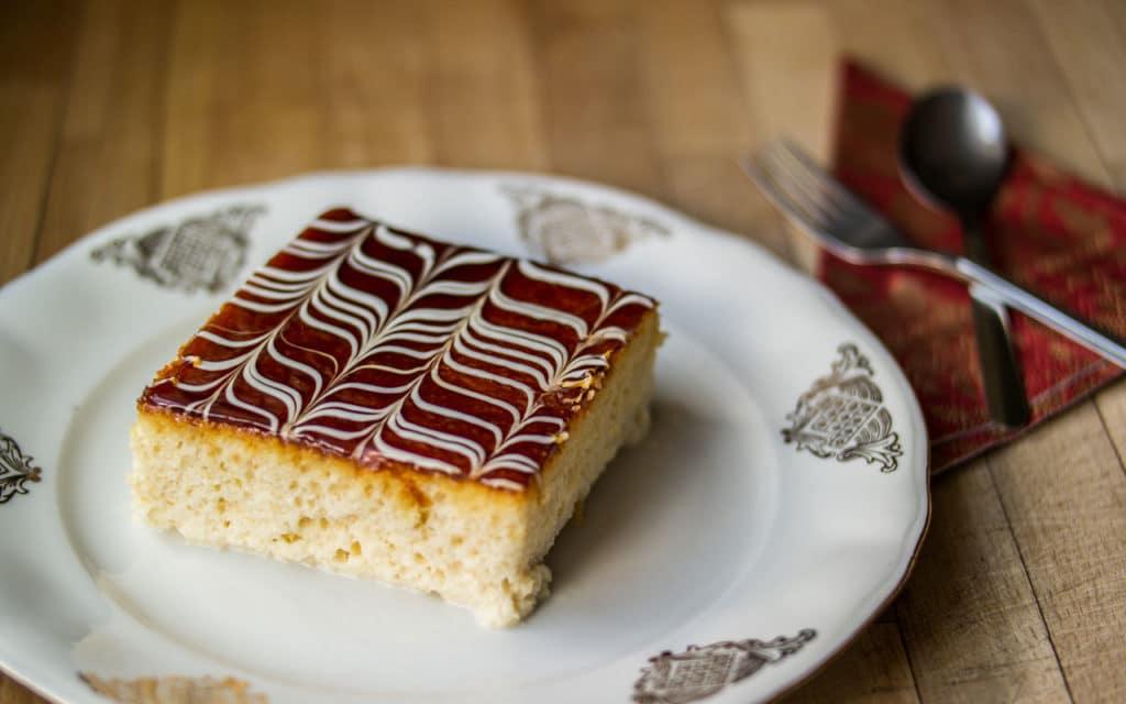Albanian Food: Trilece – Milk Cake