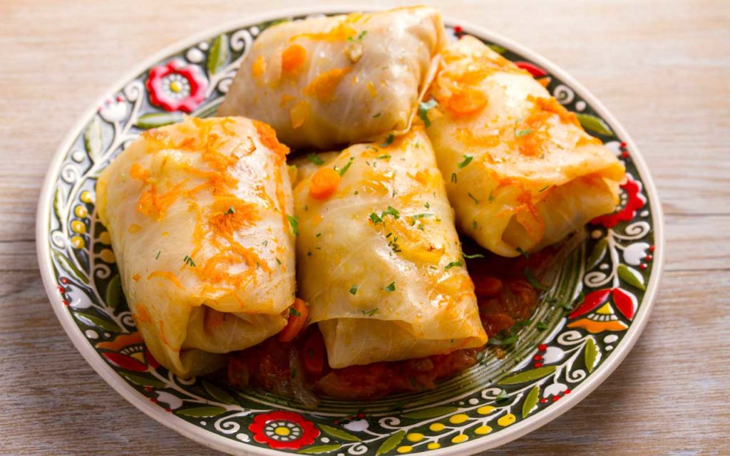 Albanian Food: Sarme – Cabbage Rolls Filled with Meat and Rice