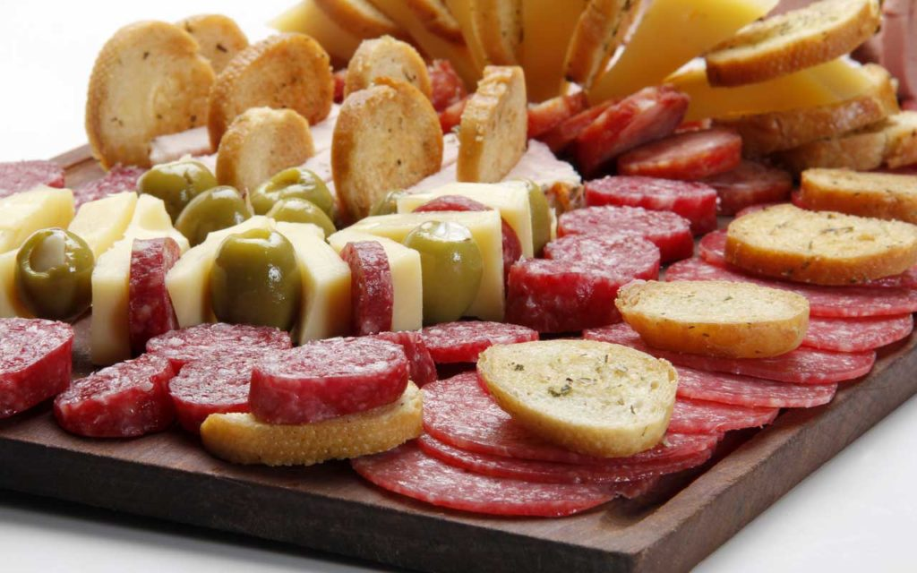 Argentinian Appetizer: Picada (Meat and Cheese Board)