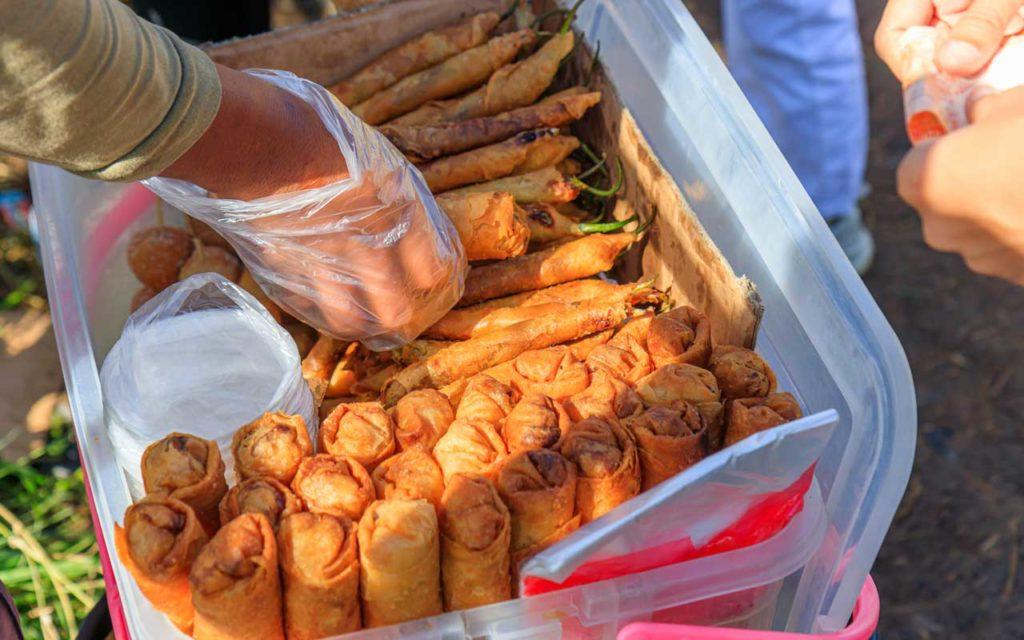 Filipino food: Dynamite lumpia