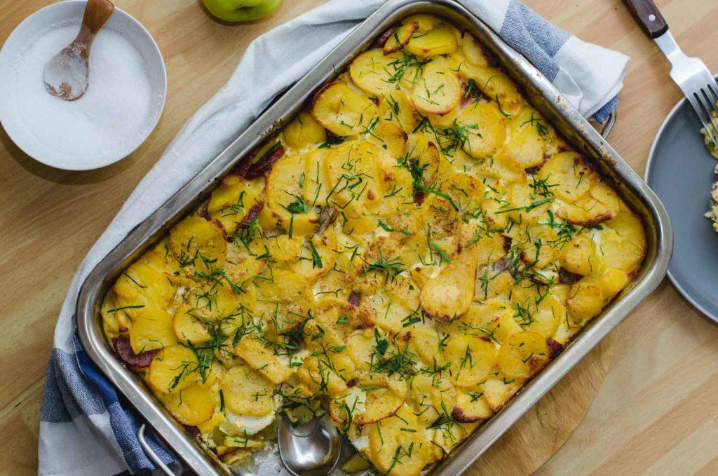 Hungarian Food: Rakott Krumpli