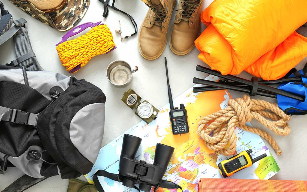 camping gear and camping gadgets