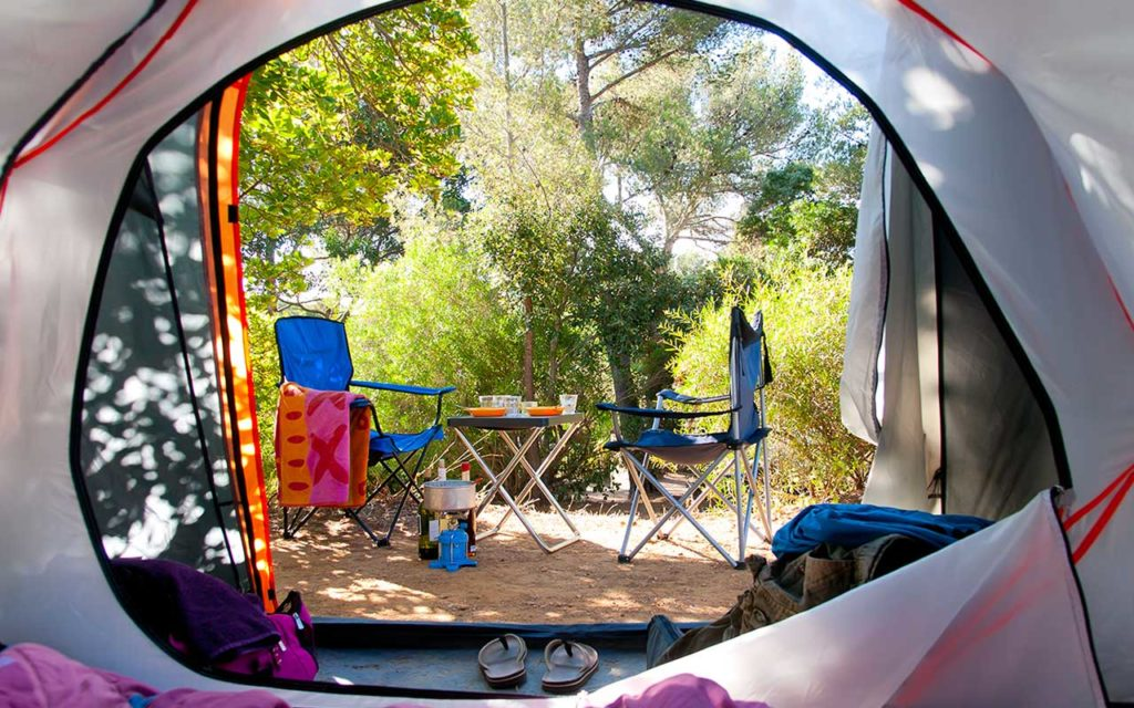camping tent and other camping essentials