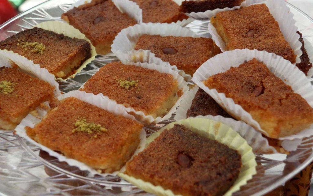 Algerian Dessert: Qalb el Louz – Baked Semolina Almond Dessert