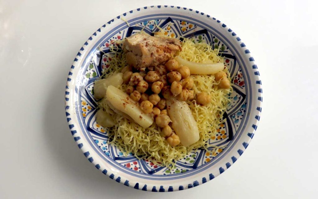 Algerian Food: Rechta – Algerian Noodles Served with Broth