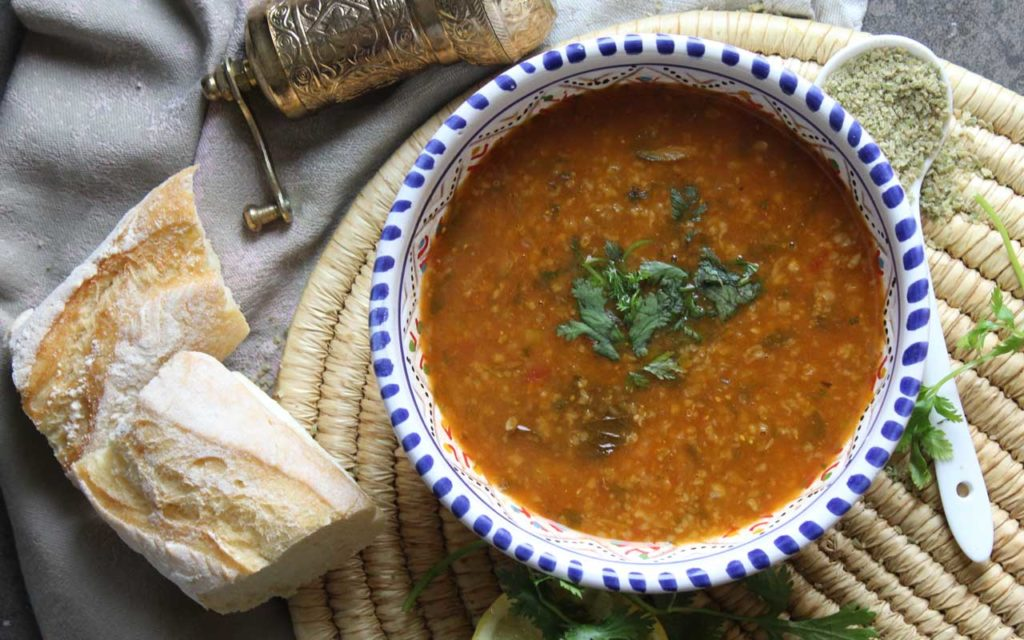 Algerian Food: Chorba Frik – Crushed Wheat Soup