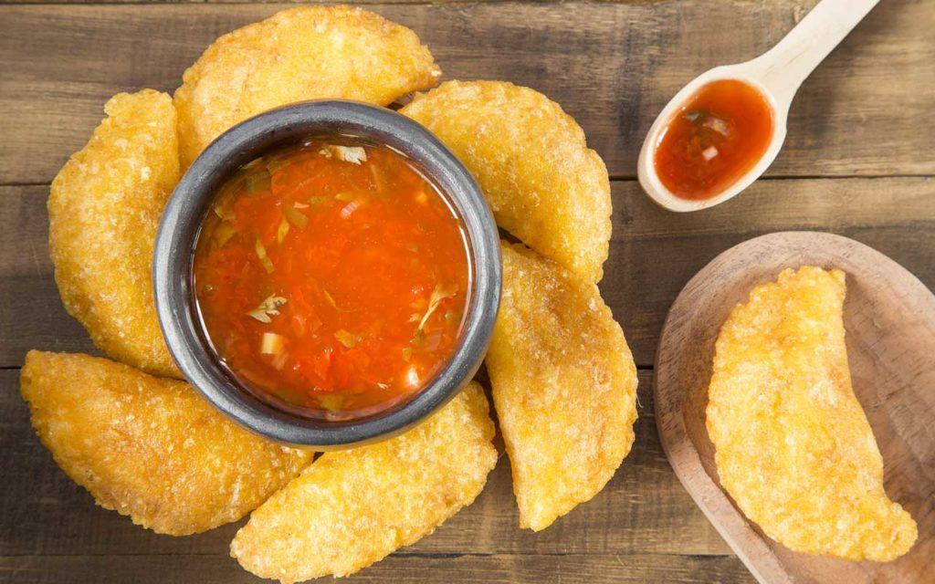 Colombian food: Empanadas (Deep-Fried Maize Pockets)